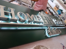Backing Lighting Letters
