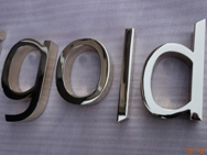 Chrome Brass Letters