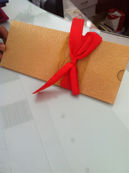 Embossed Wedding cards