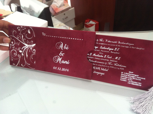 velvet foiling Wedding cards