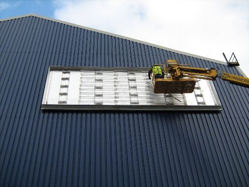 Signage Flex Box Installation