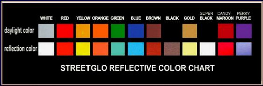 Reflective Sticker Color Chart